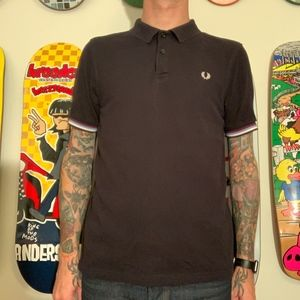 Fred Perry Bradley Wiggins black polo size Large